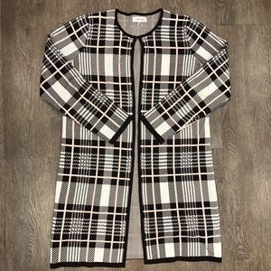 Calvin Klein open front sweater coat